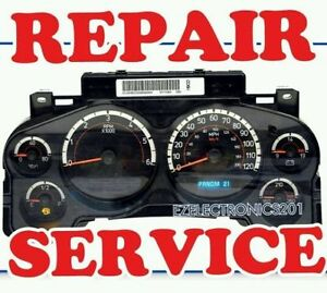 2007 To 2014 Gm Gmc Chevy Silverado Sierra Instrument Cluster Repair Service