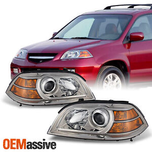 Fit 04 06 Acura Mdx Replacement Projector Headlights Headlamps Left Right Pair