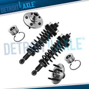 2 Rear Struts 2 Wheel Hub Bearing 2002 2005 Ford Explorer Mercury Mountaineer