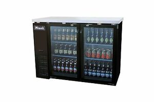 Migali C bb48g Two Door Back Bar Refrigerator Glass Beer Cooler Free Shipping