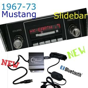 1967 68 69 70 71 72 73 Mustang New Slidebar Radio Bluetooth Kit Usb Ipod Rds