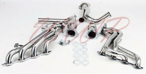 Performance Stainless Steel Long Tube Exhaust Headers Y Pipe Chevy Gmc Truck V8