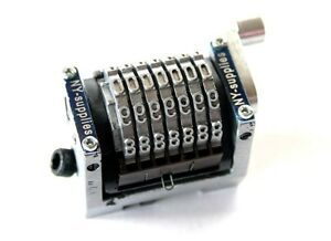 New 3 16 Rotary Straight Backwards Numbering Machine For Morgana 7 Digit