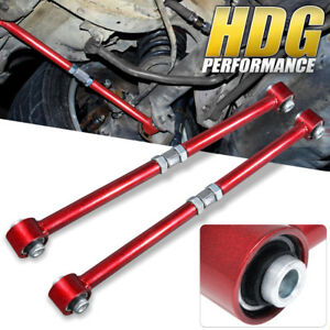 Adjustable Racing Red Lateral Control Arm Bar Kit For 84 87 Toyota Corolla Ae86