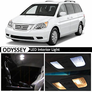 15x White Led Lights Interior License Plate Package Fit 2005 2010 Honda Odyssey