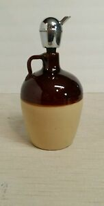 Stoneware Whiskey Jug Western Vintage Antique