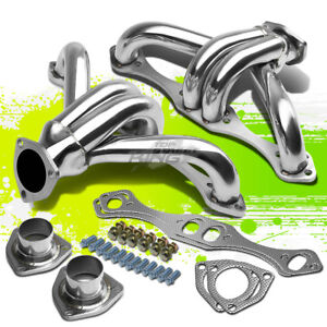 For Chevy Small Block Sbc Hugger Stainless Steel Shorty Exhaust Header Manifold