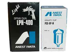 Anest Iwata Lph400 Lph 400 164lv 1 6 Mm Lph400lv Spray Gun With Pcg 6p m Cup New