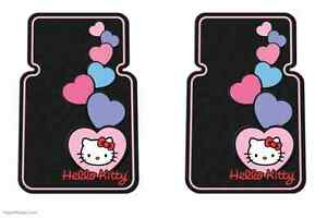 Pair 2 Hello Kitty Floor Mats Pink Custom Cute Sweetheart New Free Shipping