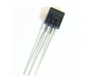 5pcs Bs250 P Channel Mosfet To 92 New