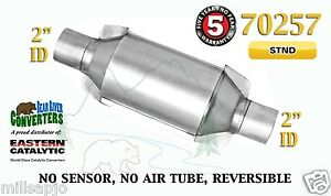 70257 Eastern Universal Catalytic Converter Standard Catalyst 2 Pipe 10 Body