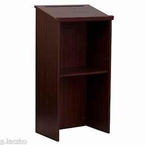 Lectern Stand Up Pulpit Safco Oak Flash Furniture Cherry Podium Mahogany