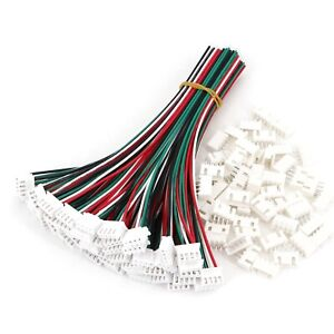 50sets Xh2 54 4pin Single head Wire To Board Connector 15cm 24awg With Socket