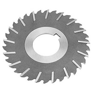 5 32 wide 4 diameter 1 hole Slitting Saw Staggered Teeth W side Chip Clearance