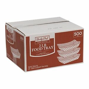 500 Paper Food Tray 2lb Nachos Popcorn Hot Dogs