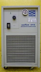 Cft 75 Neslab 349104040121 Refrigerated Recirculator Coolflow Tested Not Working