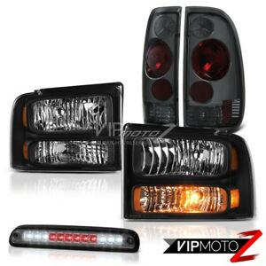 05 07 F250 Diesel Black Headlights Smoke Red Tail Lights Roof Brake Led Tint