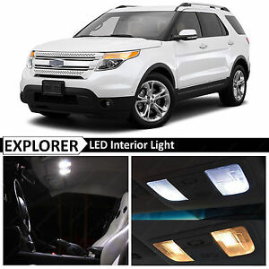 13x White Interior Led Light Replacement Package Kit For 2011 2017 Ford Explorer
