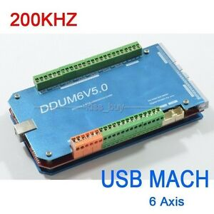 200khz Cnc Usb Mach3 Interface Board 6 Axis Breakout Controller Board Control
