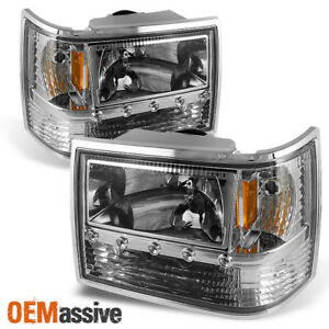 Fit 93 98 Jeep Grand Cherokee 1pc Led Headlights corner bumper Lamps L R