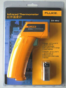 Usa Ship Fluke 59 F59 Mini Handheld Laser Ir Infrared Thermometer Gun 18 275c