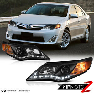 L R Diamond Black Projector Headlight 2012 2014 Toyota Camry Xle Se Hybrid