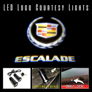 2pc Lumenz 100558 Led Logo Projectors Ghost Shadow Lights For Cadillac Escalade