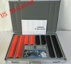 266 Pcs Optical Trial Lens Set Plastic Rim 1 Pc Trial Frame aluminium Case