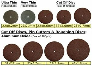 Cut Off Disc Roughing Disc 35 X 1 7mm 100 bx Aluminum Oxide