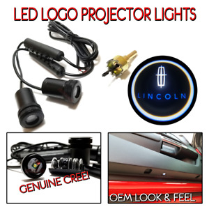2pc Lincoln Led Courtesy Ghost Shadow Lights Door Logo Projectors