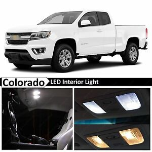 15x White Led Light Interior Package Kit For 2015 2017 Chevy Colorado