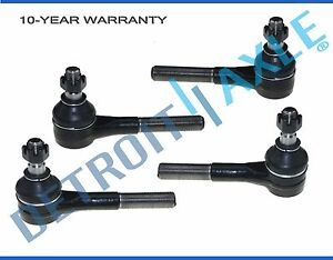 4 Pc Set New Front Driver And Passenger Inner Outer Tie Rod For Dodge Vans 2wd