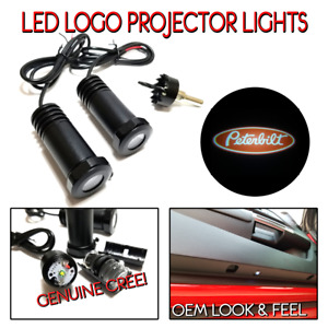2pc Led Logo Projectors Ghost Shadow Lights For Peterbilt