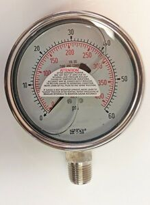 Wika 4 Pressure Gauge 60psi kpa Type 233 54 Liquid Filled P n 50141287