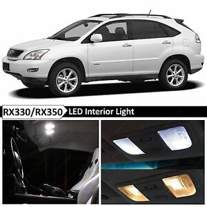 22x Bulbs White Interior Led Lights Package Kit Fits 2004 2009 Lexus Rx330 Rx350