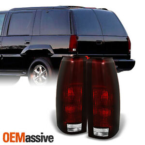 Fit 88 98 C k C10 Gmc Sierra Suburban Pickup Truck Dark Red Tail Light Lamps