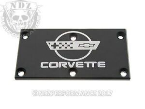 Tpi Throttle Body Plate For Chevy Bowtie Corvette C4 Black