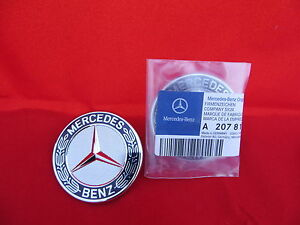 Mercedes Benz S Sl Cl E Genuine Original Hood Badge Emblem Flat 2078170316 Oem
