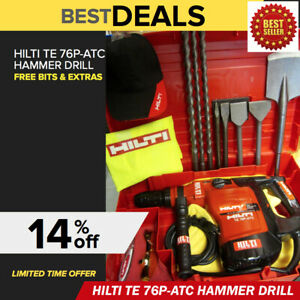 Hilti Te 76 p Atc Hammer Drill excellent Free Bits Chisels made In Germany