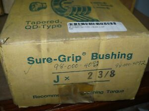 Tb Wood s J238 Qd Bushing Type J 2 3 8 Bore Jx2 3 8 New