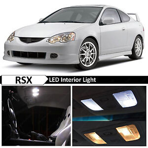 9x White Interior Led Package Kit For 2002 2006 Acura Rsx