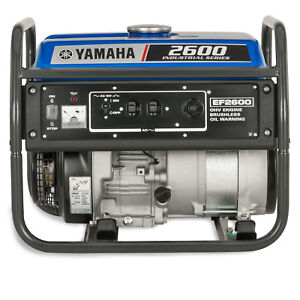 Yamaha Ef2600 2 600 Watt Gas Powered Portable Rv Home Backup Power Generator