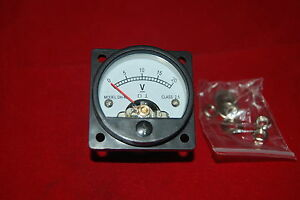 1pc Dc 0 20v Analog Voltmeter Panel Meter So45 Cutout 45mm Direct Connect