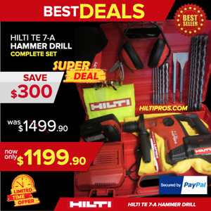 Hilti Te 7 a Cordless Hammer Drill Free Extras brand New Durable fast Shipping