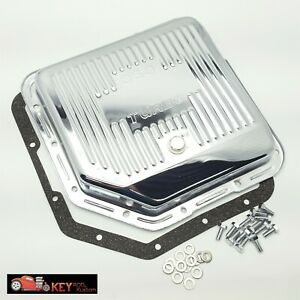 Turbo 350 Th350 Chrome Transmission Pan With Gasket Bolts Stock Capacity