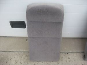 1996 97 98 99 00 Honda Civic 4dr Right Rear Seat Upper Back Cushion Gray Cloth
