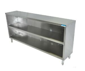 Stainless Steel Dish Cabinet Restaurant Commercial Storage Shelf Bbkdc