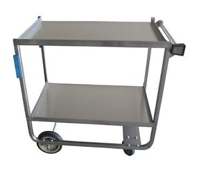 Stainless Steel Utility Cart 2 Shelves 33 X 21 Holds 700lbs Bbkc 2133s 2h