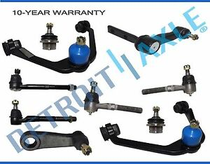 Front Upper Control Arm Tierod Ball Joint Kit 10pc For Ford F 150 Expedition 2wd