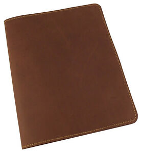 Refillable Leather Composition Book Notebook Cover Vintage Office Notepad Rustic
